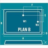 Eastbrook Volente Rectangular Shower Tray - Various Sizes - Anti Slip